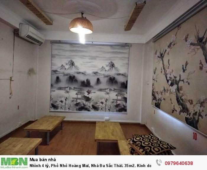 Phố Nhỏ Hoàng  Mai,  Nhà Đa Sắc Thái. 35m2. Kinh doanh đỉnh