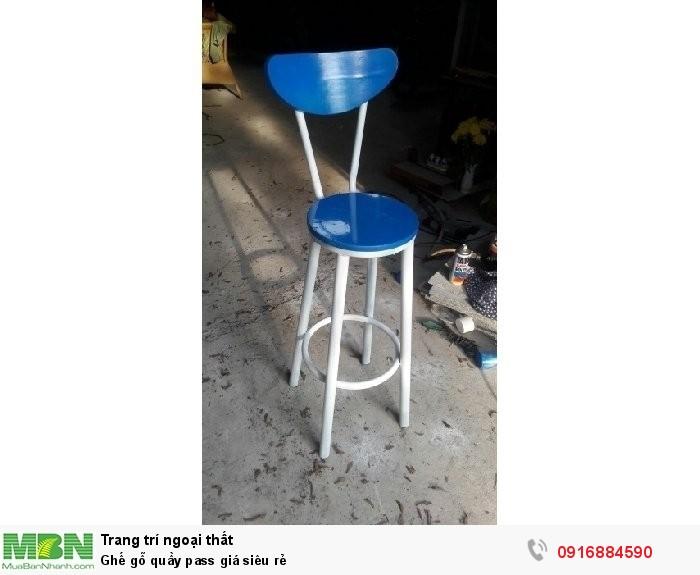 Ghế gỗ quầy pass giá siêu rẻ1