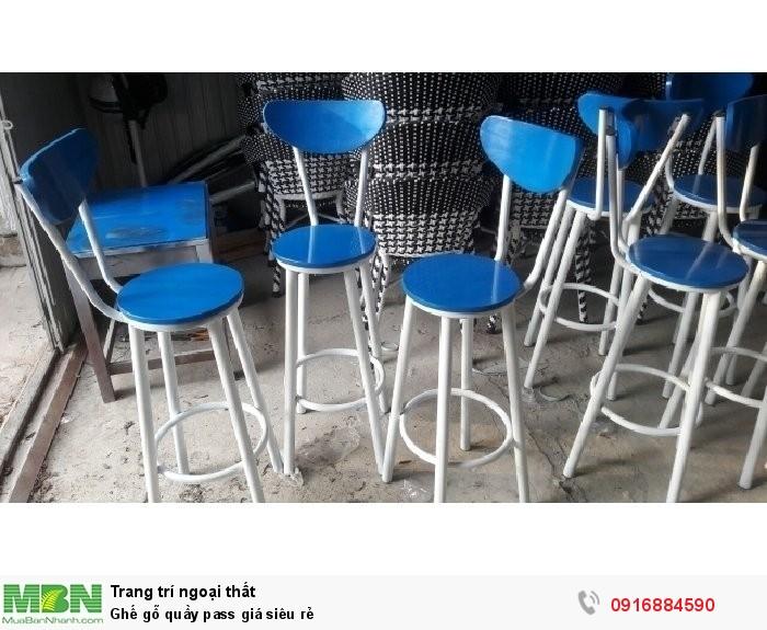 Ghế gỗ quầy pass giá siêu rẻ2