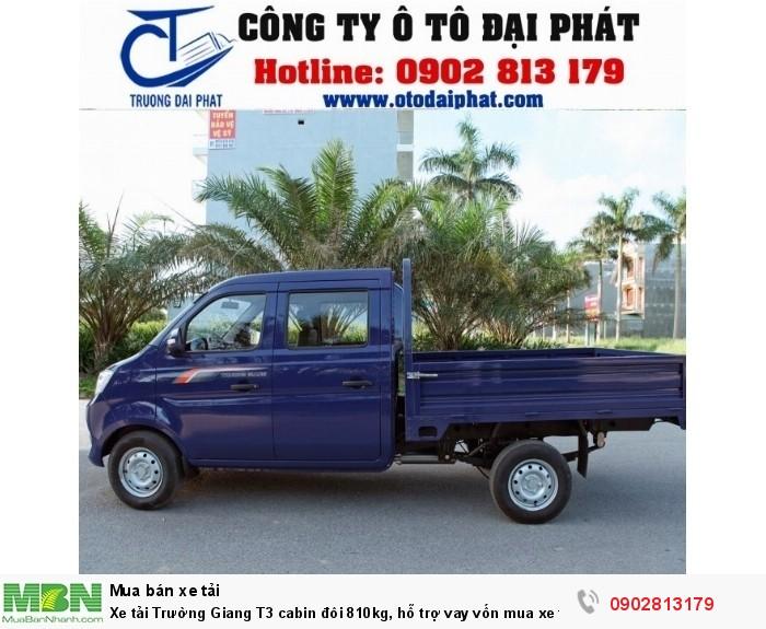 Xe tải Trường Giang T3 cabin đôi 810kg, hỗ trợ vay vốn mua xe trả góp 80% 2