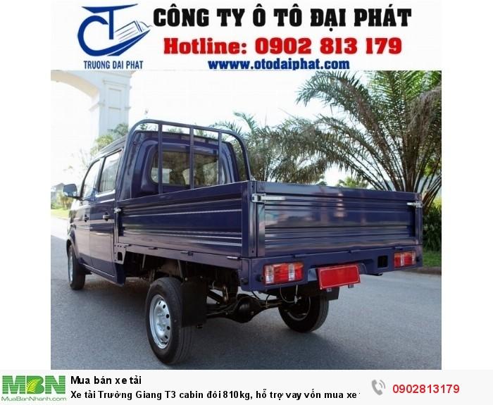 Xe tải Trường Giang T3 cabin đôi 810kg, hỗ trợ vay vốn mua xe trả góp 80% 3