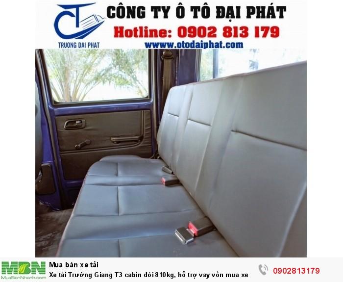 Xe tải Trường Giang T3 cabin đôi 810kg, hỗ trợ vay vốn mua xe trả góp 80% 7
