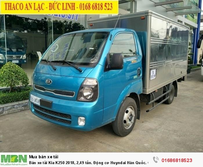Bán xe tải KIA K250 2020 tải 2,49 tấn. Động cơ HUYNDAI, xe có sẵn giao ngay