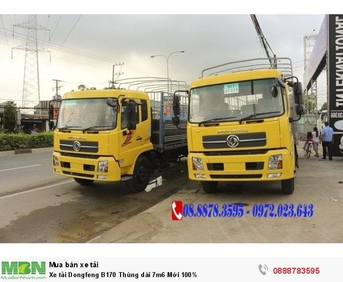 Xe tải Dongfeng B170 Thùng dài 7m6 Mới 100%