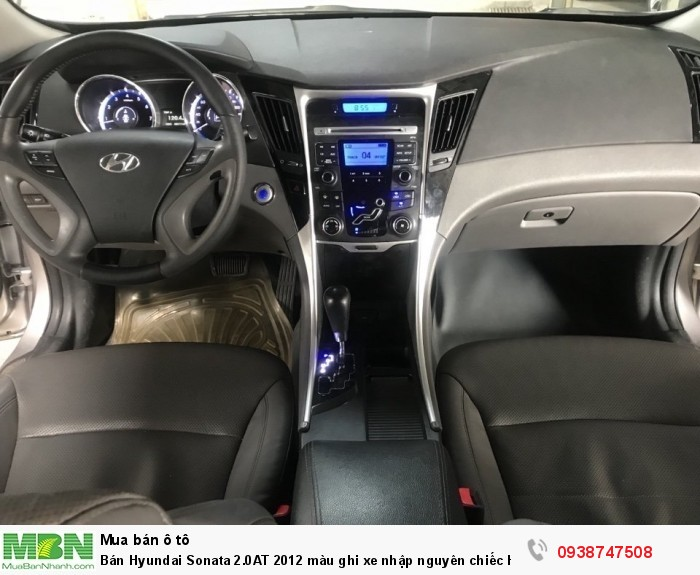 Bán Hyundai Sonata 2.0AT 2012 màu ghi xe nhập nguyên chiếc Hàn Quốc