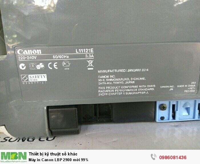 Máy in Canon LBP 2900 mới 99%2