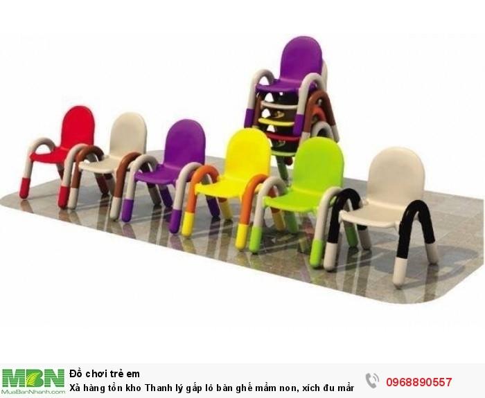 Xả hàng tồn kho Thanh lý gấp lô bàn ghế mầm non, xích đu mầm non, tủ đồ chơi mầm non có bảo hành1