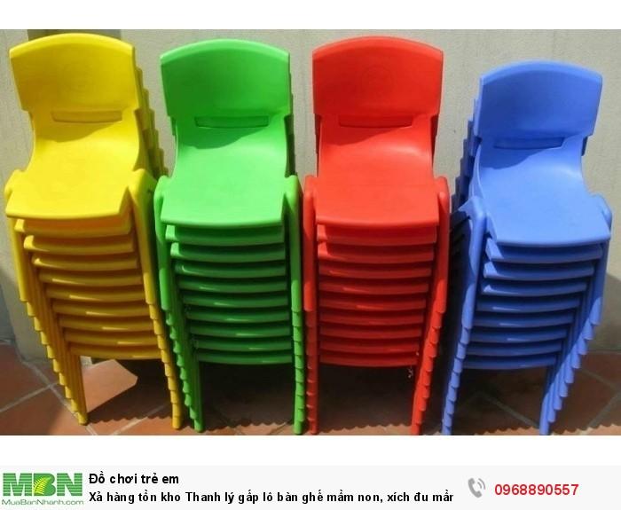 Xả hàng tồn kho Thanh lý gấp lô bàn ghế mầm non, xích đu mầm non, tủ đồ chơi mầm non có bảo hành6