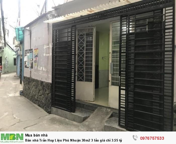Bán nhà Trần Huy Liệu Phú Nhuận 30m2 3 lầu