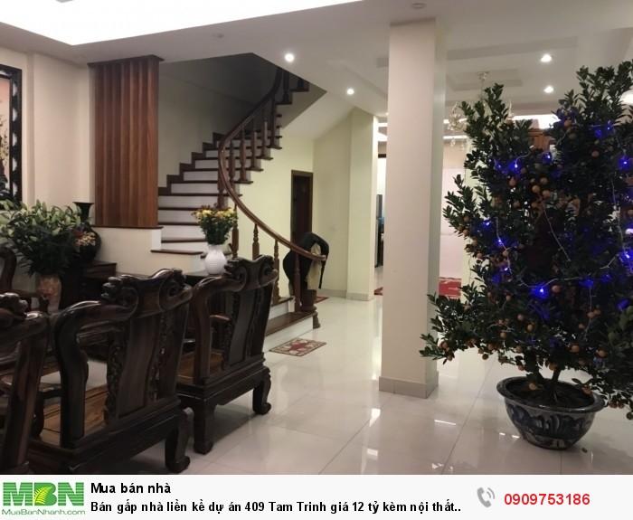 Bán gấp nhà liền kề dự án 409 Tam Trinh kèm nội thất siêu vip. Miễn TG