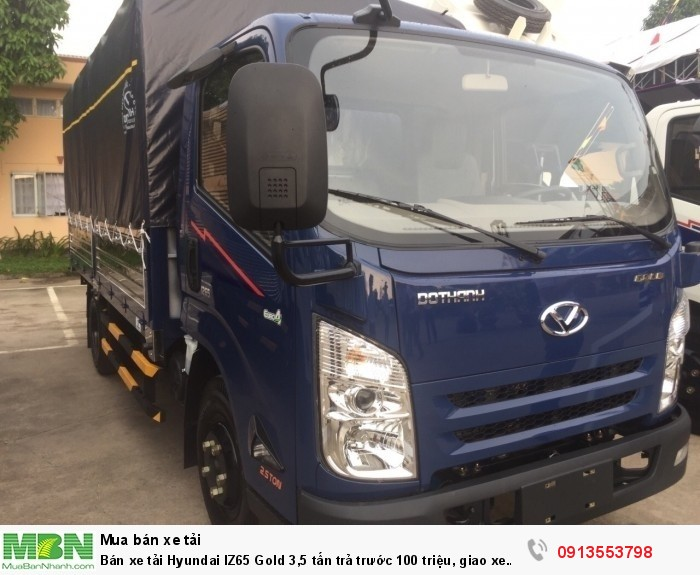 Bán xe tải Hyundai IZ65 Gold 3,5 tấn trả trước 100 triệu, giao xe ngay - Gọi 0913553798 (24/24)