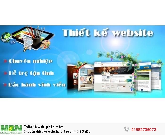 Chuyên thiết kế website giá rẻ chỉ từ 1.5 tiệu