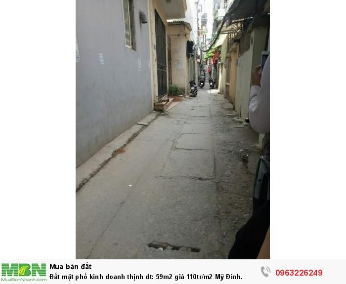 Đất mặt phố kinh doanh thịnh dt: 59m2 giá 110tr/m2 Mỹ Đình.