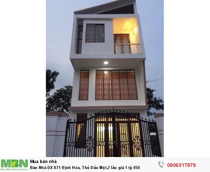 Bán Nhà DX 071 Định Hòa, Thủ Dầu Một,2 lầu giá 1 tỷ 450