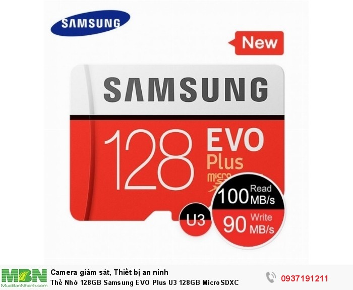 Thẻ Nhớ 128GB Samsung EVO Plus U3 128GB MicroSDXC0