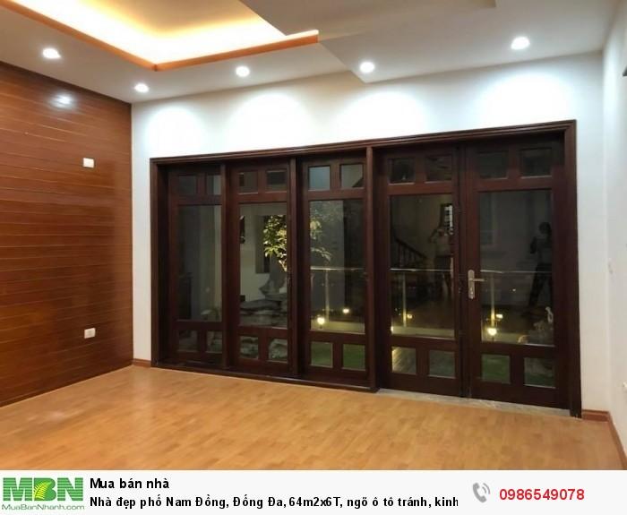 Nhà đẹp phố Nam Đồng, Đống Đa, 64m2x6T, ngõ ô tô tránh, kinh doanh rất tốt