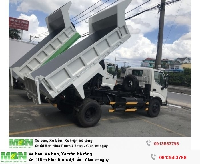 Xe tải Ben Hino Dutro 4,5 tấn - Giao xe ngay