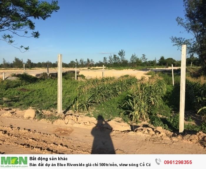 Bán đất dự án Blue Riverside giá chỉ 500tr/nền, view sông Cổ Cò, Gần CocoBay