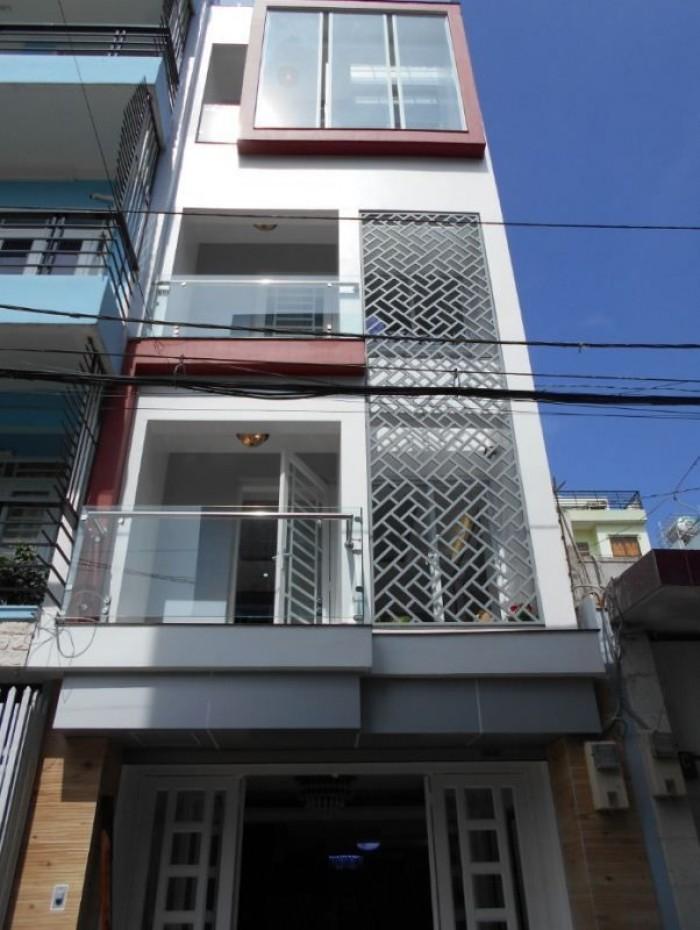 Nhà đẹp Mặt Tiền đường số 8 P5 Q8, DT: 5x18m, 4 lầu