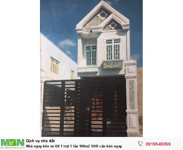 Nhà ngay bến xe Q8 1 trệt 1 lầu 100m2 SHR cần bán ngay