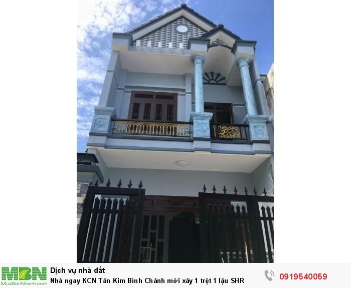 Nhà ngay KCN Tân Kim Bình Chánh mới xây 1 trệt 1 lậu SHR