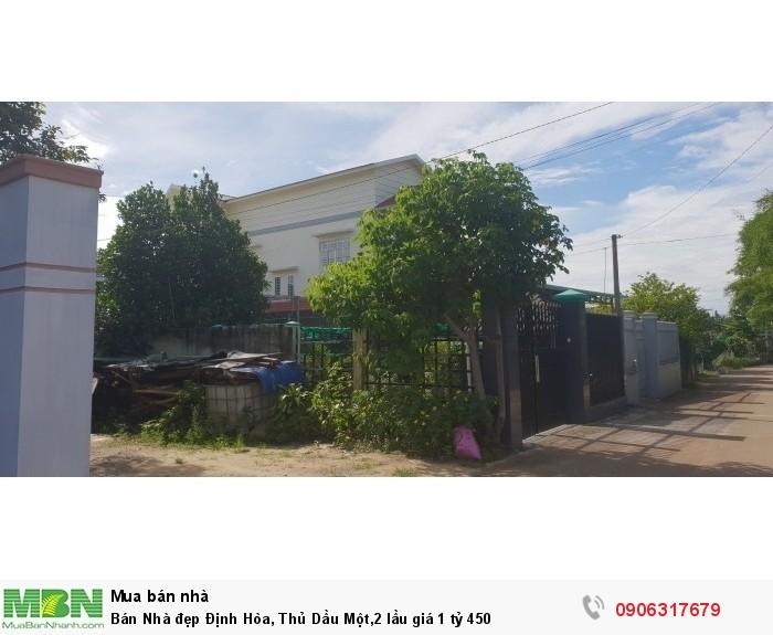 Bán Nhà đẹp  Định Hòa, Thủ Dầu Một,2 lầu giá 1 tỷ 450