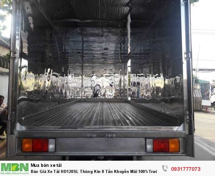 Xe tải Hyundai HD120SL 8 tấn thùng kín - Đóng thùng inox và các thùng chuyên dùng theo yêu cầu khách hàng
