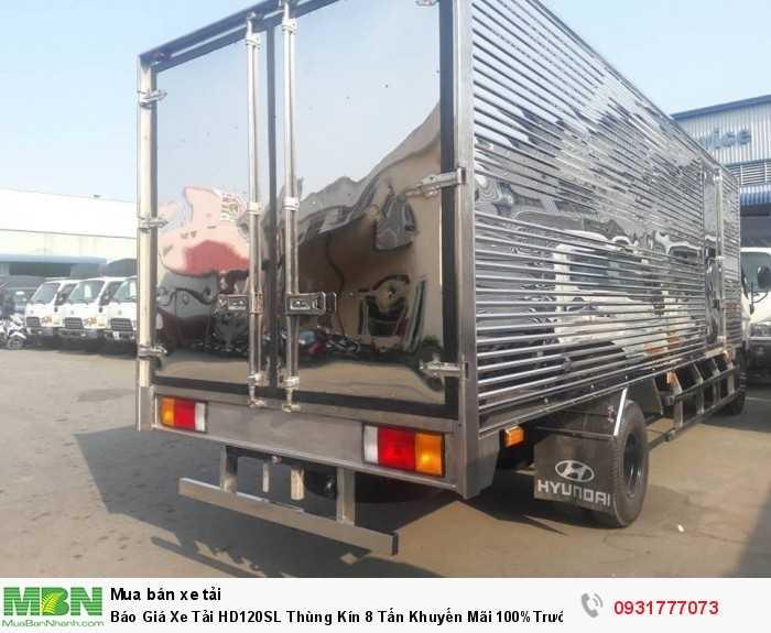 Xe tải Hyundai HD120SL 8 tấn thùng kín - Tặng định vi GPS và hỗ trợ làm phù hiệu cho khách