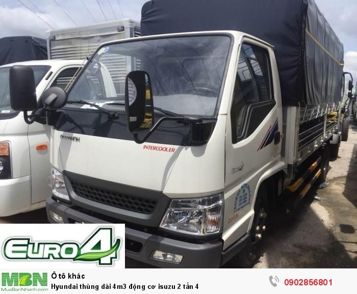 Hyundai thùng dài 4m3 động cơ isuzu 2 tấn 4 2