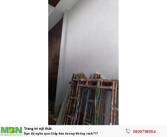 Bạn đã nghe qua Giấy dán tường không rách?!?
