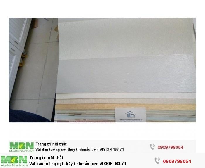 Vải dán tường sợi thủy tinhmẫu trơn  VISION 168-71