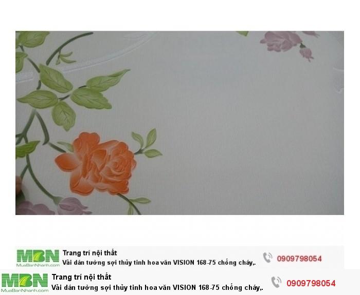Vải dán tường sợi thủy tinh hoa văn  VISION 168-75 chống cháy, chống thấm