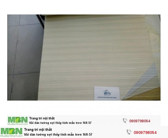 Vải dán tường sợi thủy tinh mẫu trơn 168-570