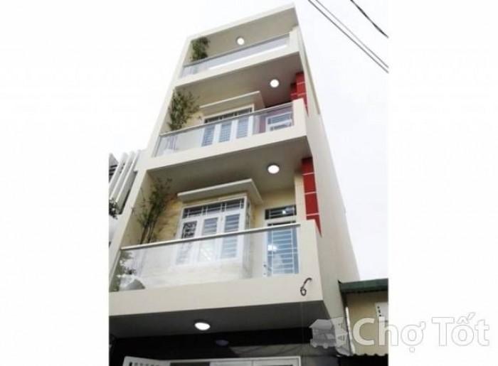 Cho thuê nhà MT hẻm 283 CMT8,Quận 10,DT 4 X 16,Hẻm 8m,1 trệt,3 lầu,6 phòng,5wc