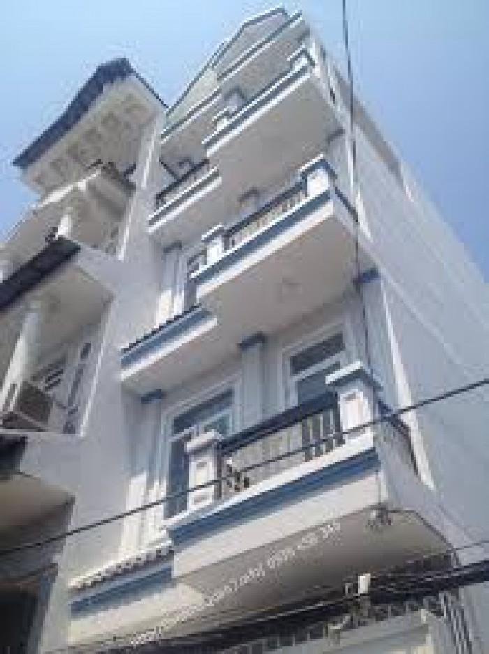 Cho thuê nhà MT hẻm 283 CMT8,Quận 10,DT 4 X 16,Hẻm 8m,1 trệt,3 lầu,Sân thượng,7 phòng,6wc