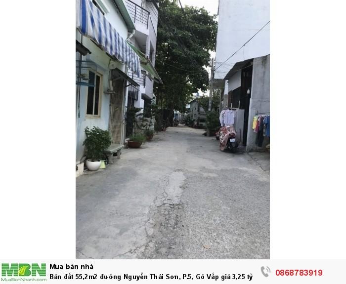 Bán đất 55,2m2 đường Nguyễn Thái Sơn, P.5, Gò Vấp