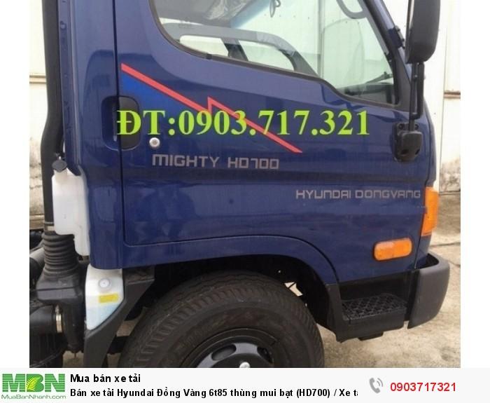 Bán xe tải Hyundai Đồng Vàng 6t85 thùng mui bạt (HD700) / Xe tải Hyundai HD700 Đồng Vàng 2