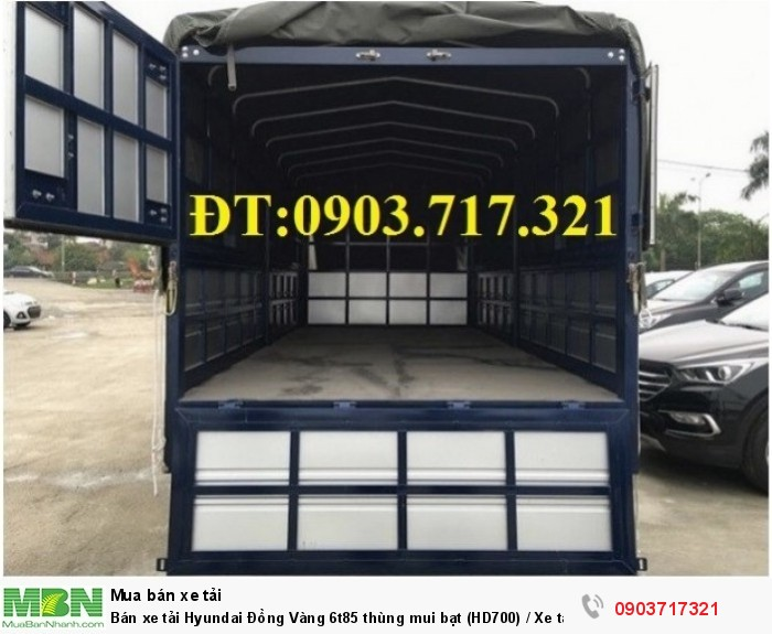Bán xe tải Hyundai Đồng Vàng 6t85 thùng mui bạt (HD700) / Xe tải Hyundai HD700 Đồng Vàng 3