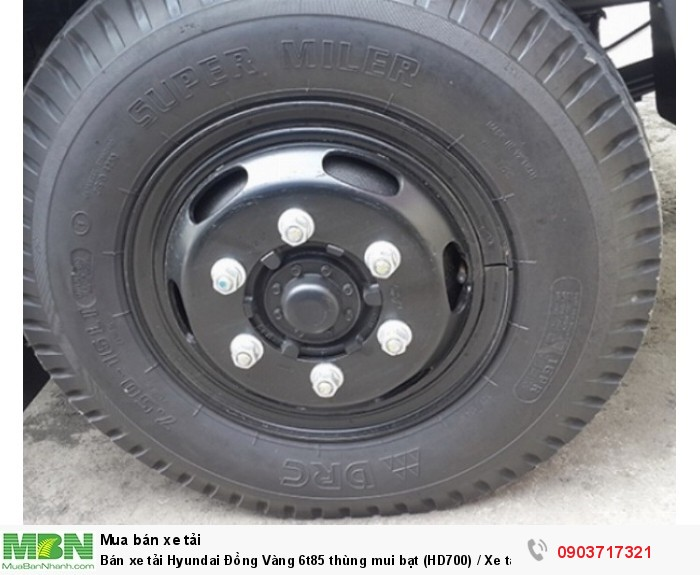 Bán xe tải Hyundai Đồng Vàng 6t85 thùng mui bạt (HD700) / Xe tải Hyundai HD700 Đồng Vàng 5