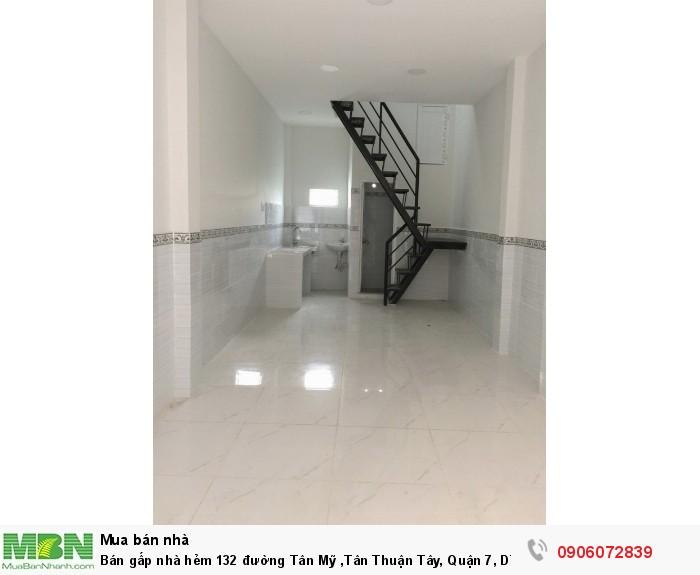 Bán gấp nhà hẻm 132 đường Tân Mỹ ,Tân Thuận Tây, Quận 7, DT 33m