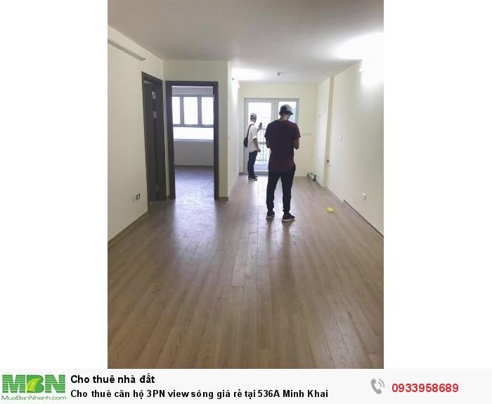 Cho thuê căn hộ 3PN view sông giá rẻ tại 536A Minh Khai