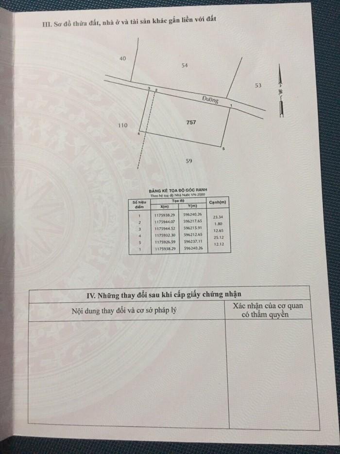 Bán đất 25x12 đường Hóc Hưu, Bình Chánh