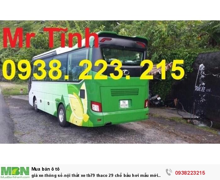 Giá xe-thông số-nội thất xe tb79 thaco 29 chỗ bầu hơi mẫu mới nhất hiện nay
