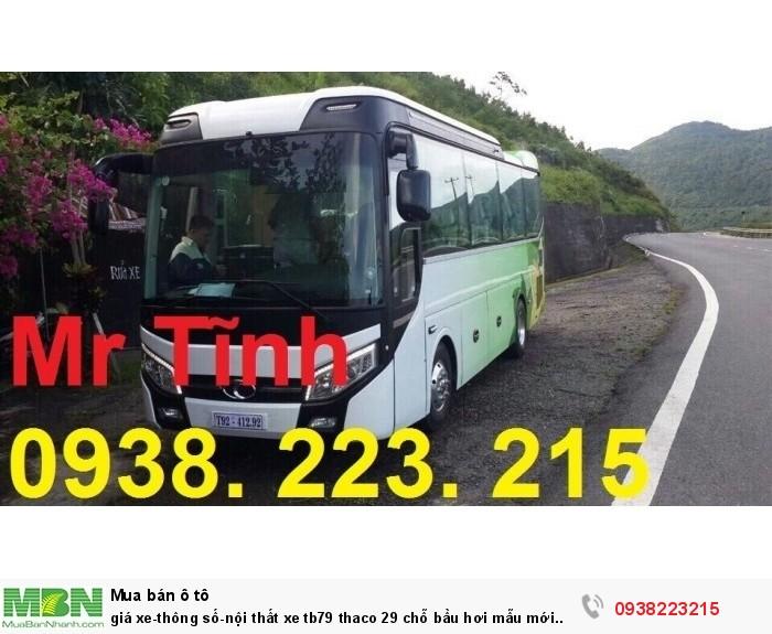 Giá xe-thông số-nội thất xe tb79 thaco 29 chỗ bầu hơi mẫu mới nhất hiện nay 1