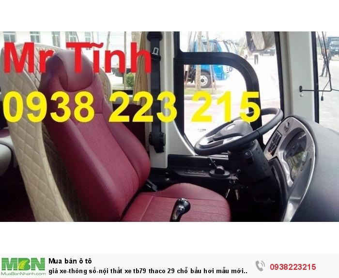 Giá xe-thông số-nội thất xe tb79 thaco 29 chỗ bầu hơi mẫu mới nhất hiện nay 2