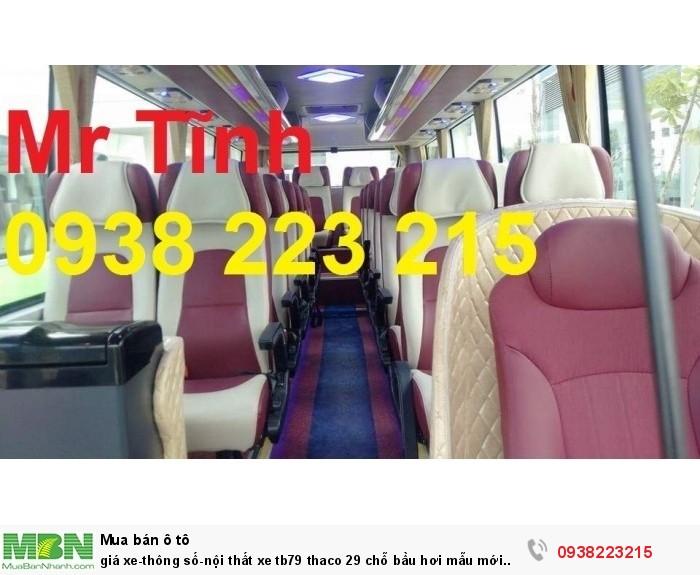 Giá xe-thông số-nội thất xe tb79 thaco 29 chỗ bầu hơi mẫu mới nhất hiện nay 3
