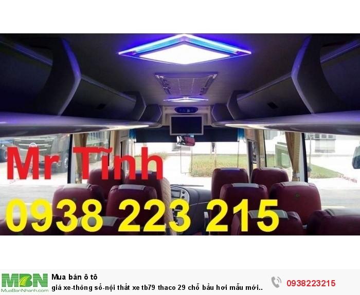 Giá xe-thông số-nội thất xe tb79 thaco 29 chỗ bầu hơi mẫu mới nhất hiện nay 4
