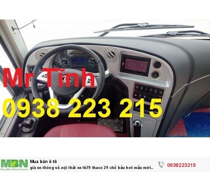 Giá xe-thông số-nội thất xe tb79 thaco 29 chỗ bầu hơi mẫu mới nhất hiện nay 5