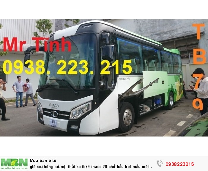 Giá xe-thông số-nội thất xe tb79 thaco 29 chỗ bầu hơi mẫu mới nhất hiện nay 6
