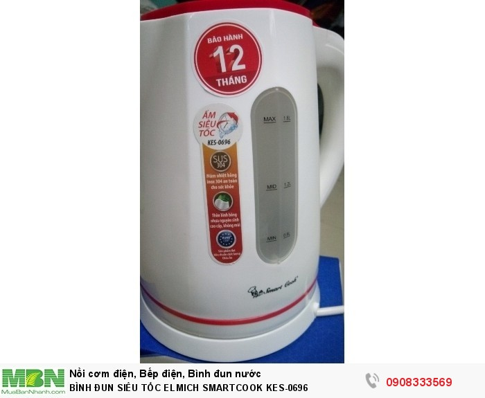 Bình đun siêu tốc ELMICH SMARTCOOK KES-06962